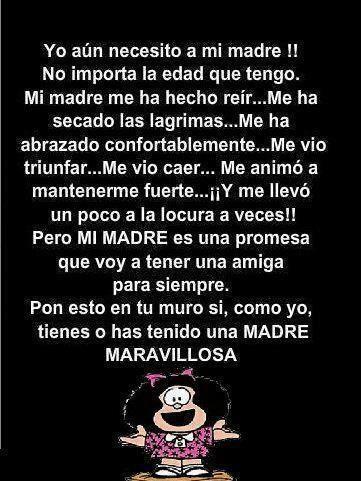 Madre te necesito y te amo