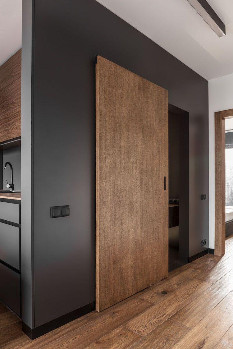 Stilvolle Einrichtung im Boyfriend Style – Einrichtungsidee für Männer #schlafzimmereinrichten #deavita #wohnungseinrichtung #treppe #küche #kitchen #boyfriendjeans #kücheschwarz #interior #kitchendoors