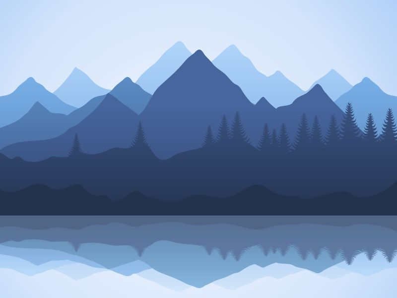 Mountain mountains illustrations and landscaping for Mountain landscape design