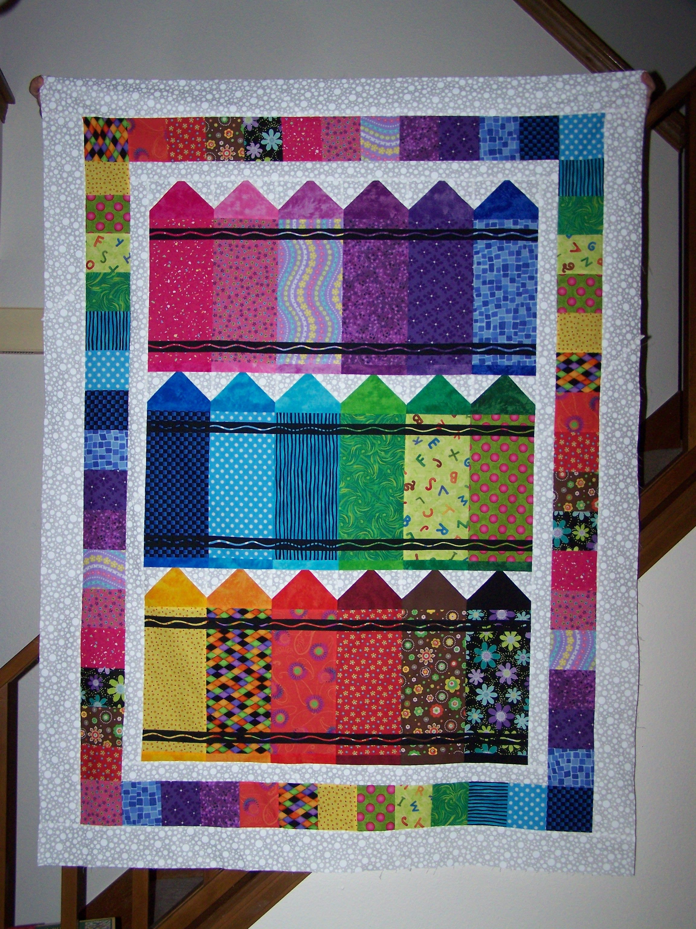 Crayon Quilt For Jenna Just Need To Quilt It Now
