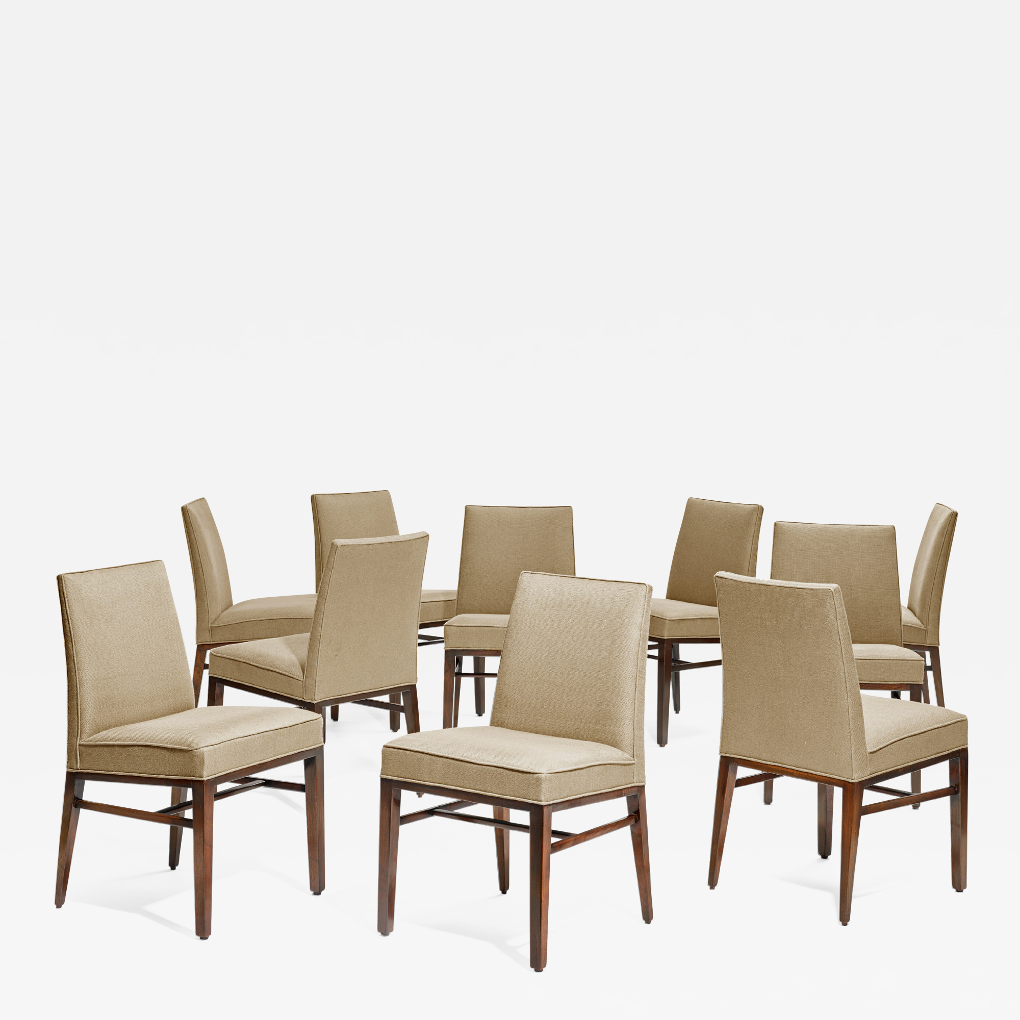 Set Of 10 Dining Room Chairs By Edward J Wormley For Dunbar Usa