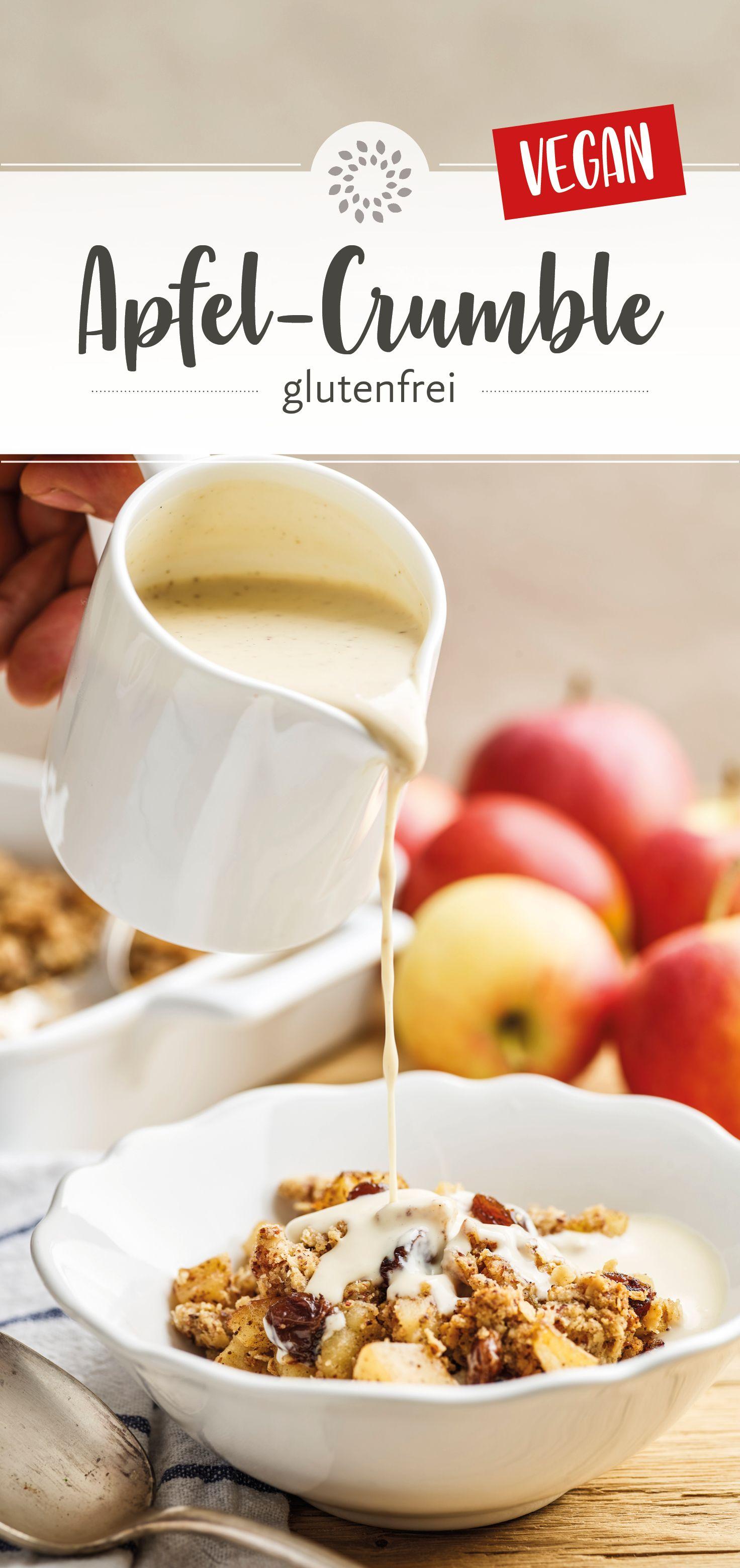 Dieser wahrlich köstliche Apfel-Crumble kommt im Gegensatz zu herkömmlichen Rezepturen ganz ohne Mehl und mit nur halb soviel Zucker und Fett aus. Und dennoch steht er dem Original geschmacklich in Nichts nach – überzeugt Euch selbst!  #apfel #crumble #glutenfrei