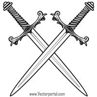 Sword crossed. Swords clip art tattoo