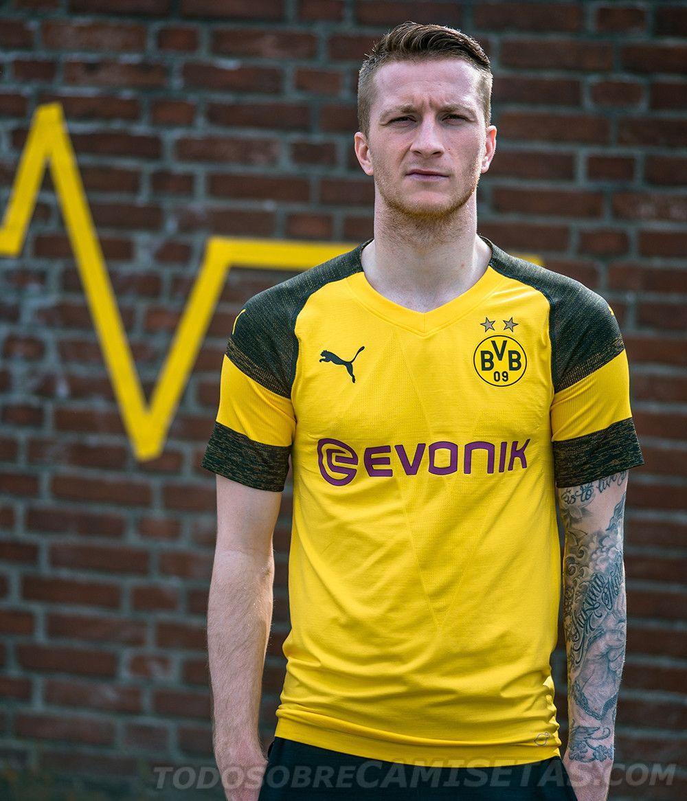 detailed look ea488 15e55 Borussia Dortmund 2018-19 PUMA Home Kit | Football (soccer ...