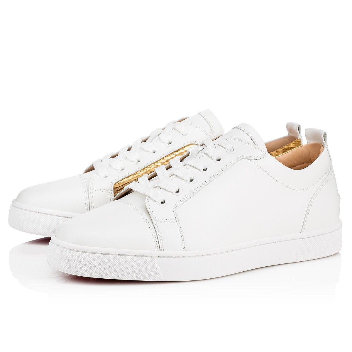 fb1c79701a95 Christian Louboutin United States Official Online Boutique - Yang Louis  Junior Flat Latte Gold Leather Laminato available online. Discover more Men  Shoes by ...
