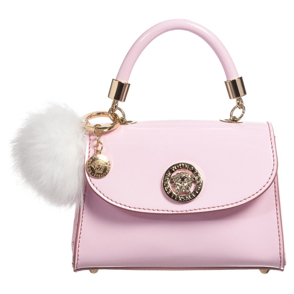 26bbf96e3d7f Young Versace - Girls Pink Patent Leather Bag (16cm)