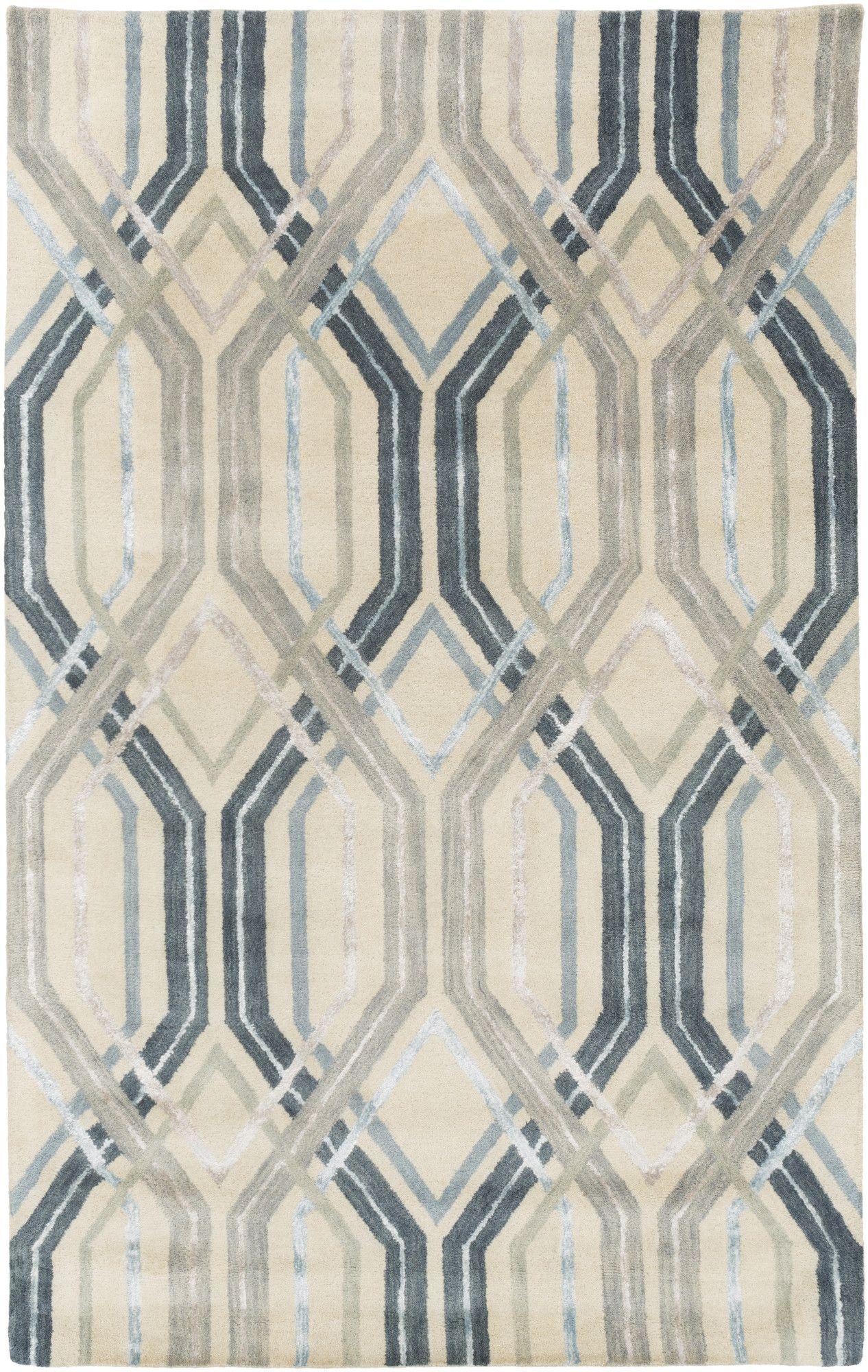 Dewit Hand-Tufted Charcoal/Slate Area Rug