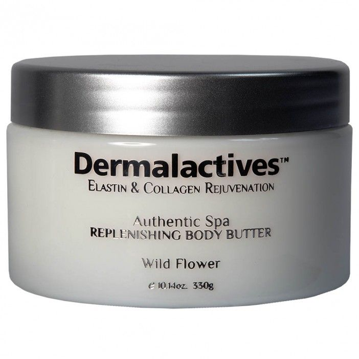 Replenishing Body Butter - Wild Flower  Keep your skin moist, smooth and let it glow! Dermalactives body butter is the all-natural way to provide your skin with a protective layer that will keep your skin smooth, soft and healthy. Dermalactives body butter replenishes dry skin and restores its healthy glow by providing the skin with essential vitamins and minerals. Enjoy a fantastic feeling and remarkable results with Dermalactives body butter.