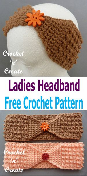 Crochet Ladies Headband Free Crochet Pattern | Stirnband