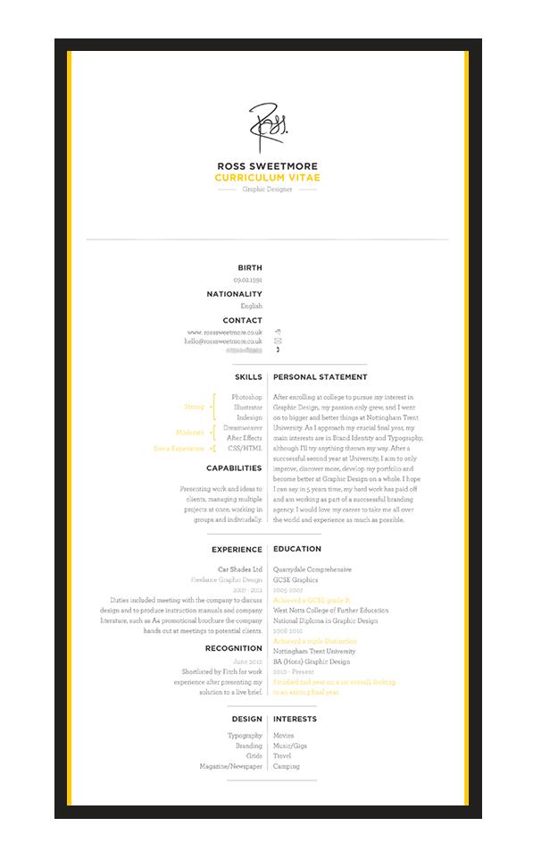Self Promotion Identity, Letter, Business Card, CV