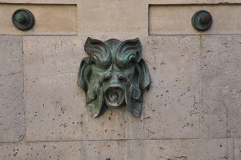 Fontaine du Vertbois Paris 3e (mascaron)
