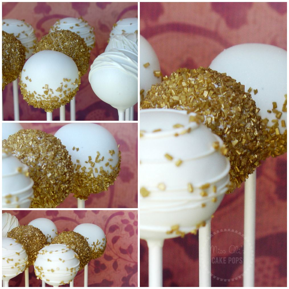 Remarkable Gold 50Th Anniversary Cake Pops Great For Any Celebration Funny Birthday Cards Online Inifodamsfinfo