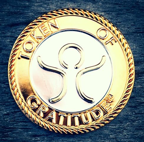 Token Of Gratitude A Beautiful Medallion Plated In 24k Gold And