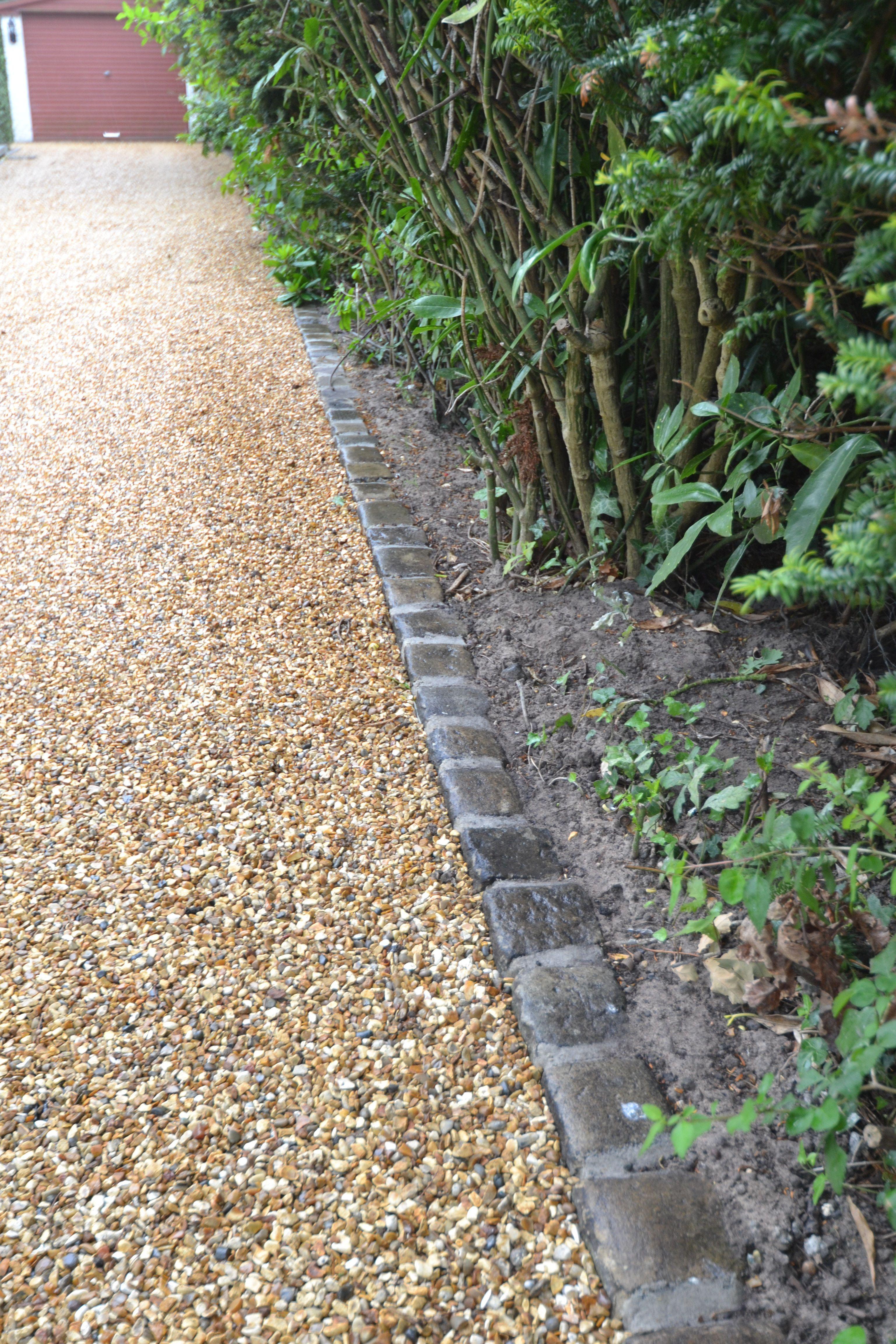 Reclaimed Setts For Edging Of Stabilised Gravel Driveway In