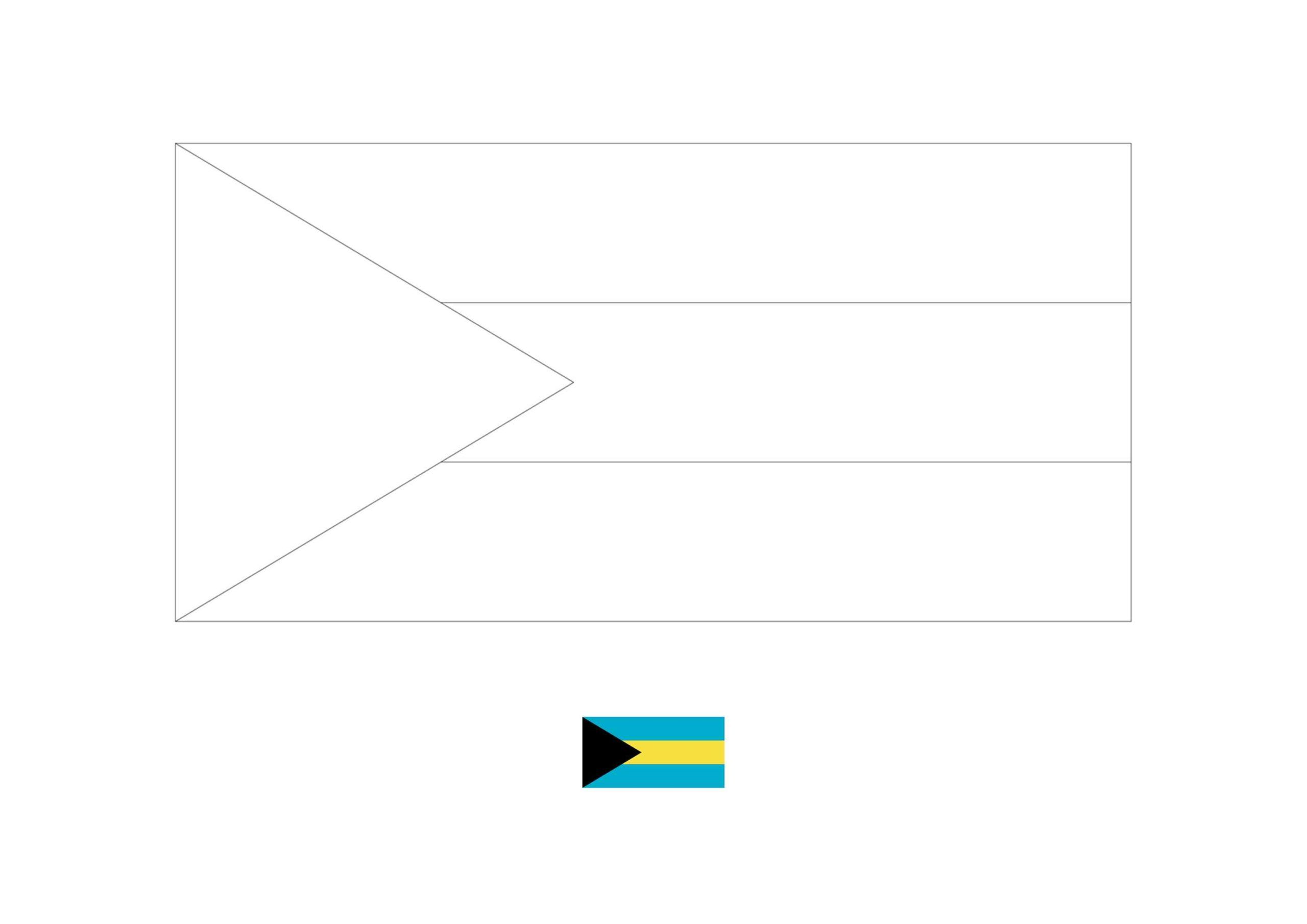 Bahamas Flag Coloring Page Flag Coloring Pages Coloring Pages Bahamas Flag