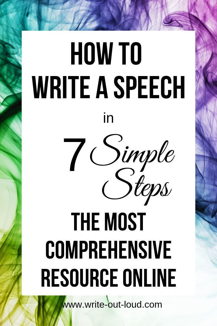 Help writing speech