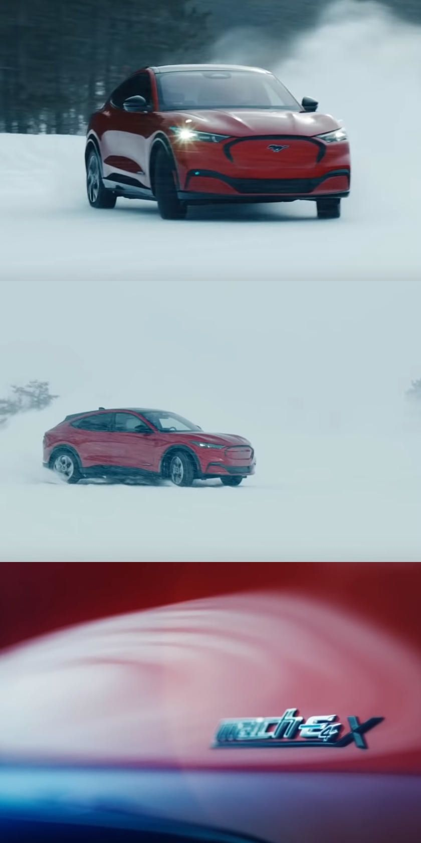 Watch Ford Mustang Mach E Drifting In The Snow In 2020 Ford Mustang Mustang Drifting