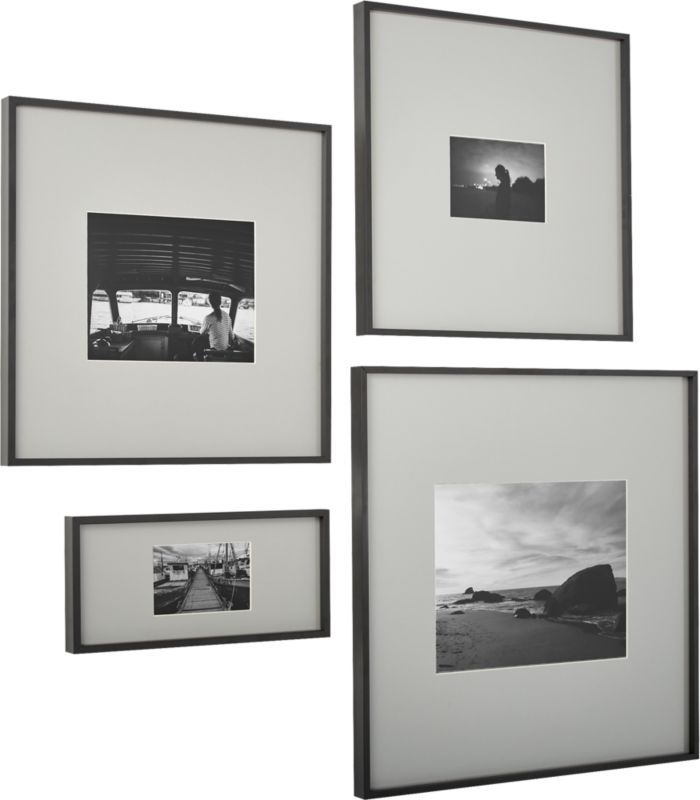 Gallery Black 11x14 Picture Frame With Grey Mat Photo Wall Gallery Black Picture Frames Picture Frames