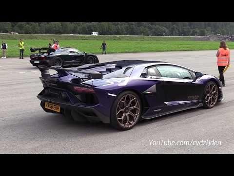 Lamborghini Aventador SVJ vs Bugatti Veyron GrandSport Vitesse - YouTube #lamborghiniaventador