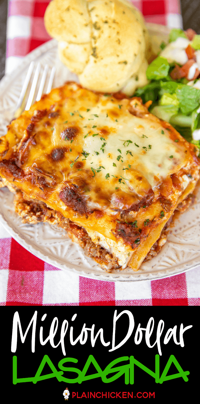 This Million Dollar Lasagna Is Seriously The Best Lasagna We Ve Ever Eaten So Easy To Make And Ta Easy Lasagna Recipe Small Lasagna Recipe Lasagna Casserole