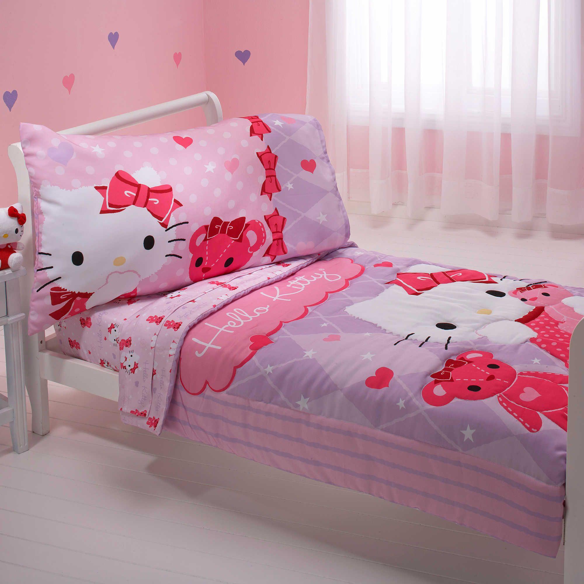 Hello Kitty Amp Friends 4 Piece Toddler Bedding Set