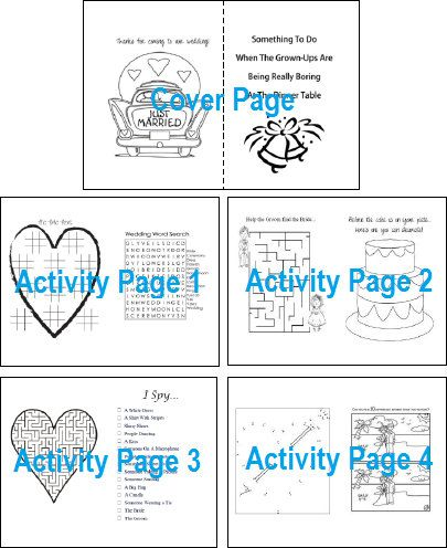 Kids Wedding Activity Book Downloadable Template - DIY and Editable ...