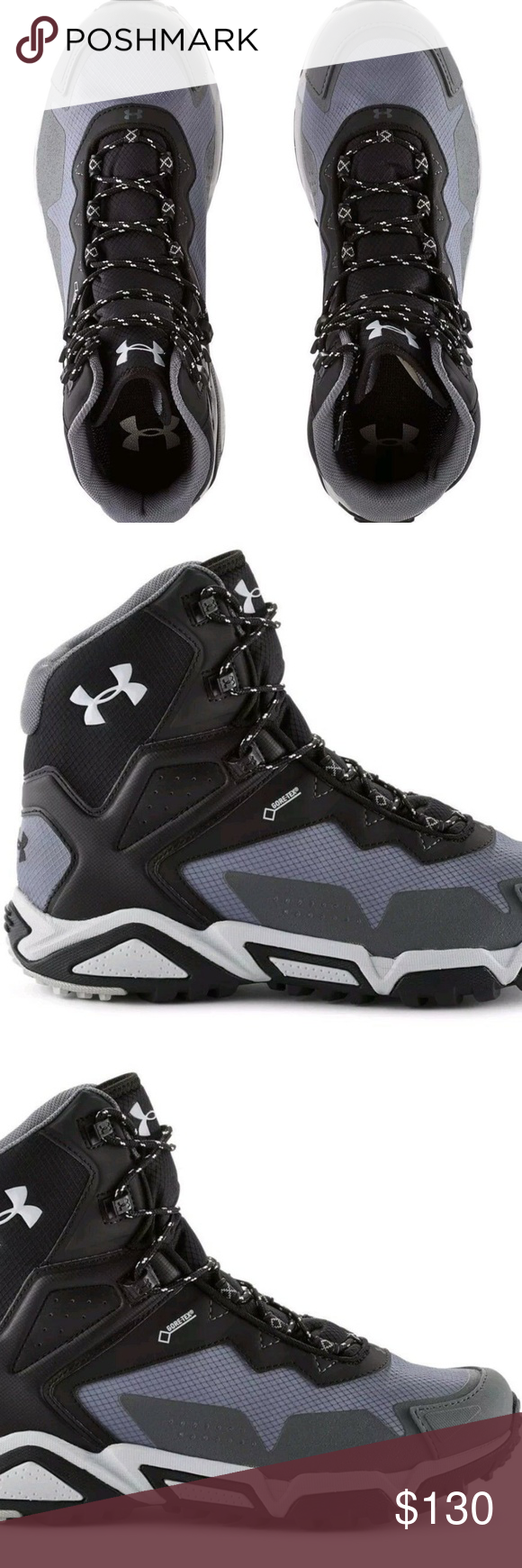 1254918-040 Mens UA Under Armour Tabor Ridge Mid Hiking Boots