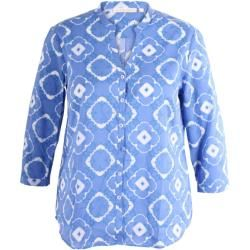 Photo of Eterna – Blaue Bluse mit Batikmuster