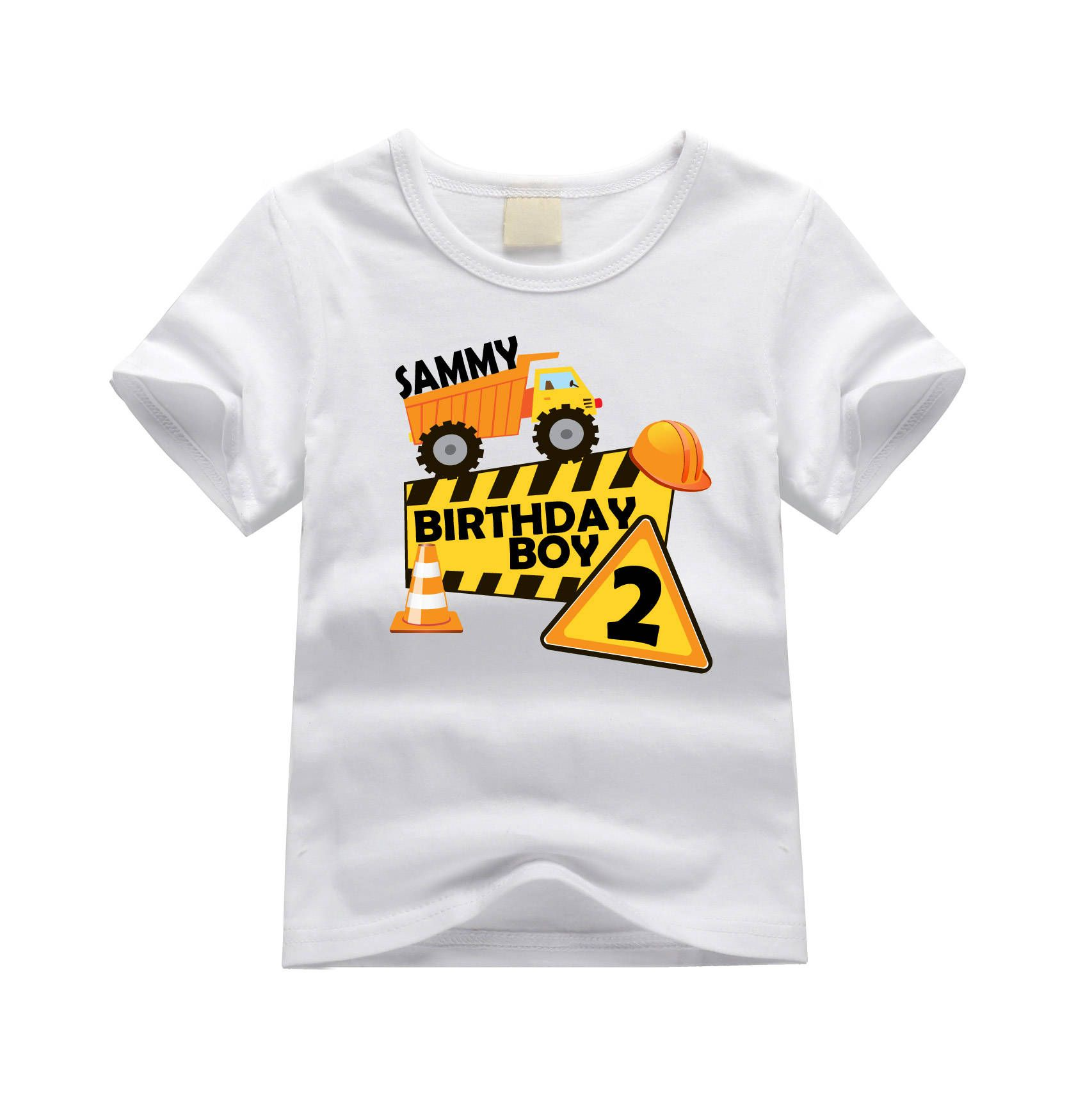 Construction theme birthday shirt. First birthday shirt