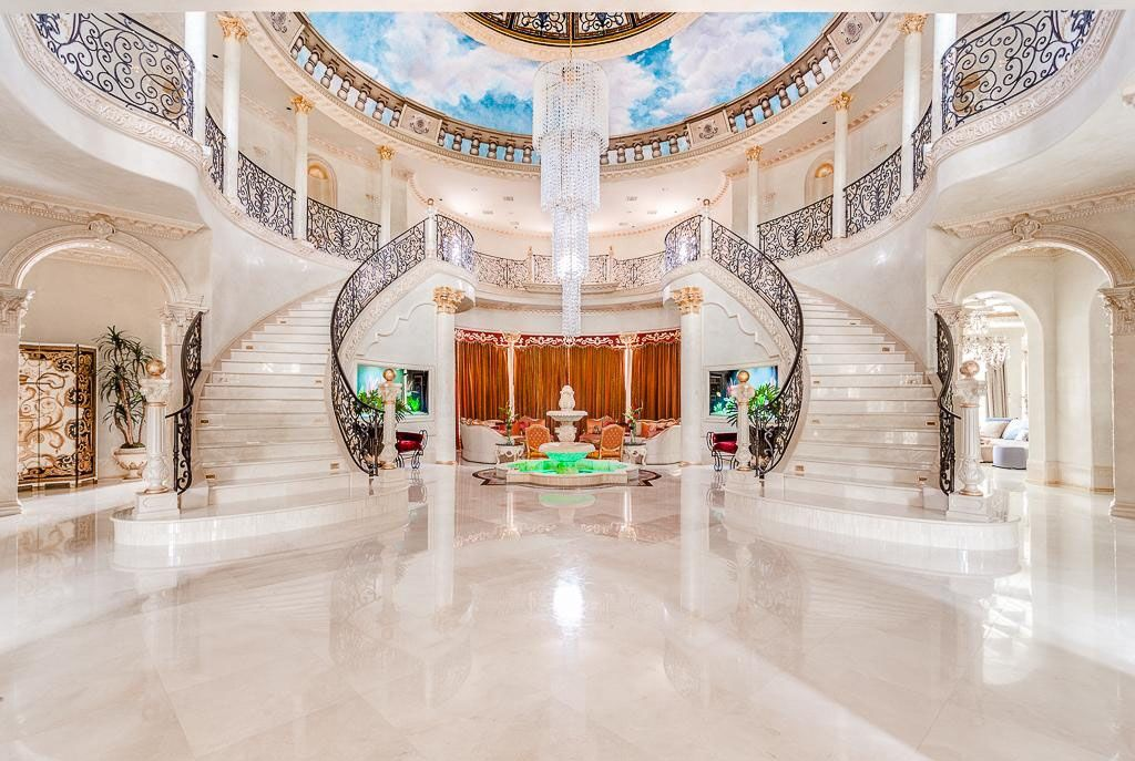 Opulent Grand Mansion Staircase