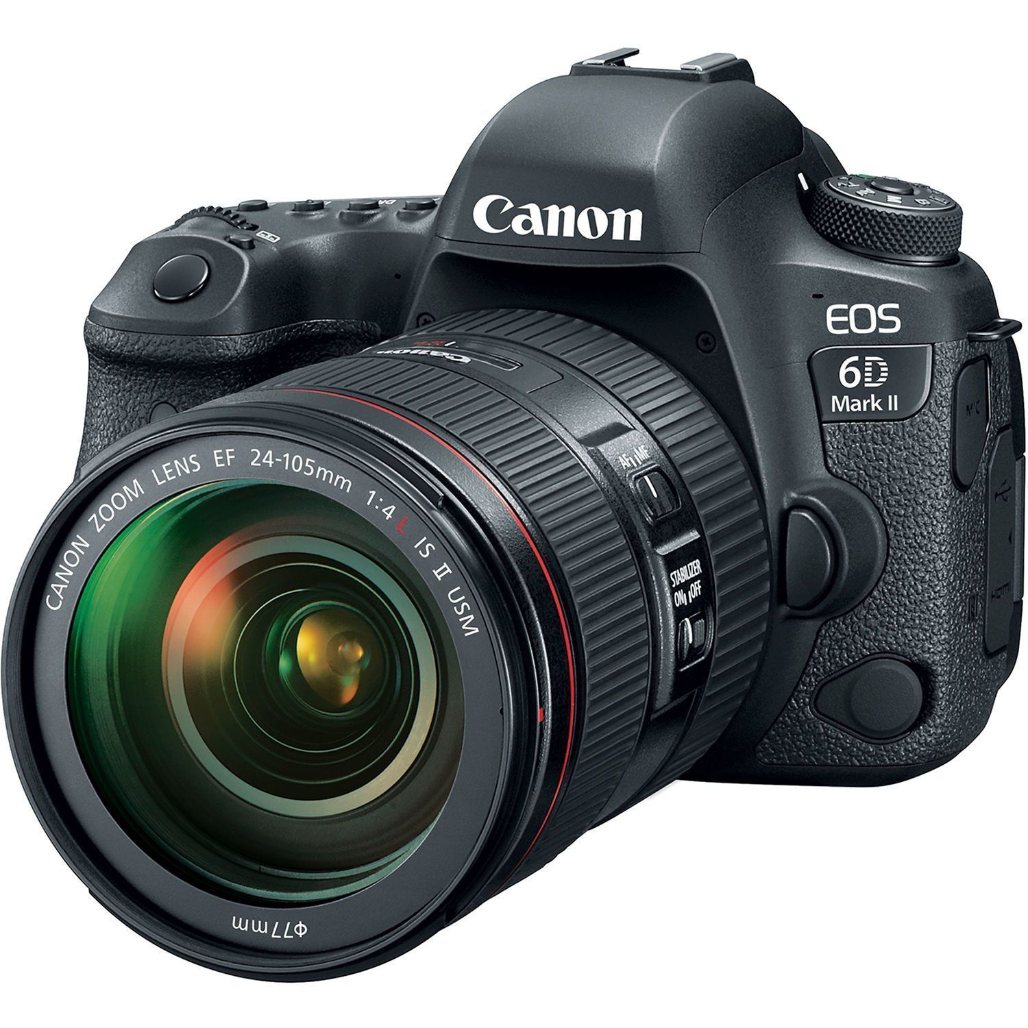 Canon Eos 6d Mark Ii Dslr Camera With 24105mm F 4 Lens 1897c009 Canon Ef 50mm F 1 8 Stm Lens 0570c002 49mm 3 Piece Filte Canon Dslr Camera Canon Dslr Canon 5ds
