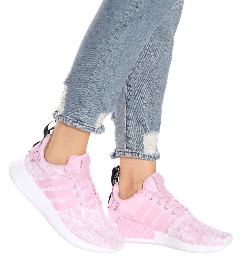 Rosa zapatillas, Adidas, correr, ejercicio, gimnasio trajes, deporte