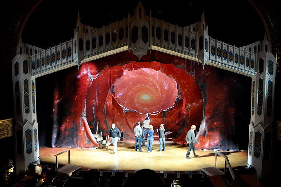 Theater Enhance A Colour Theatre Backdrops Scene Design Backdrops