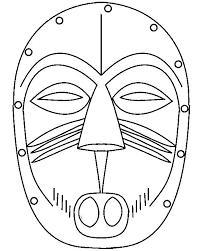 Kleurplaten Afrikaanse Maskers.Afbeeldingsresultaat Voor Afrikaanse Maskers Kleurplaten