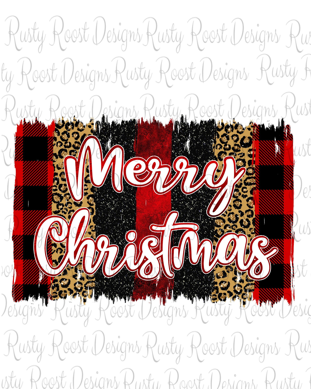Sublimation Transfer TRANSFER ONLY Christmas Transfer Merry Christmas Brush Strokes
