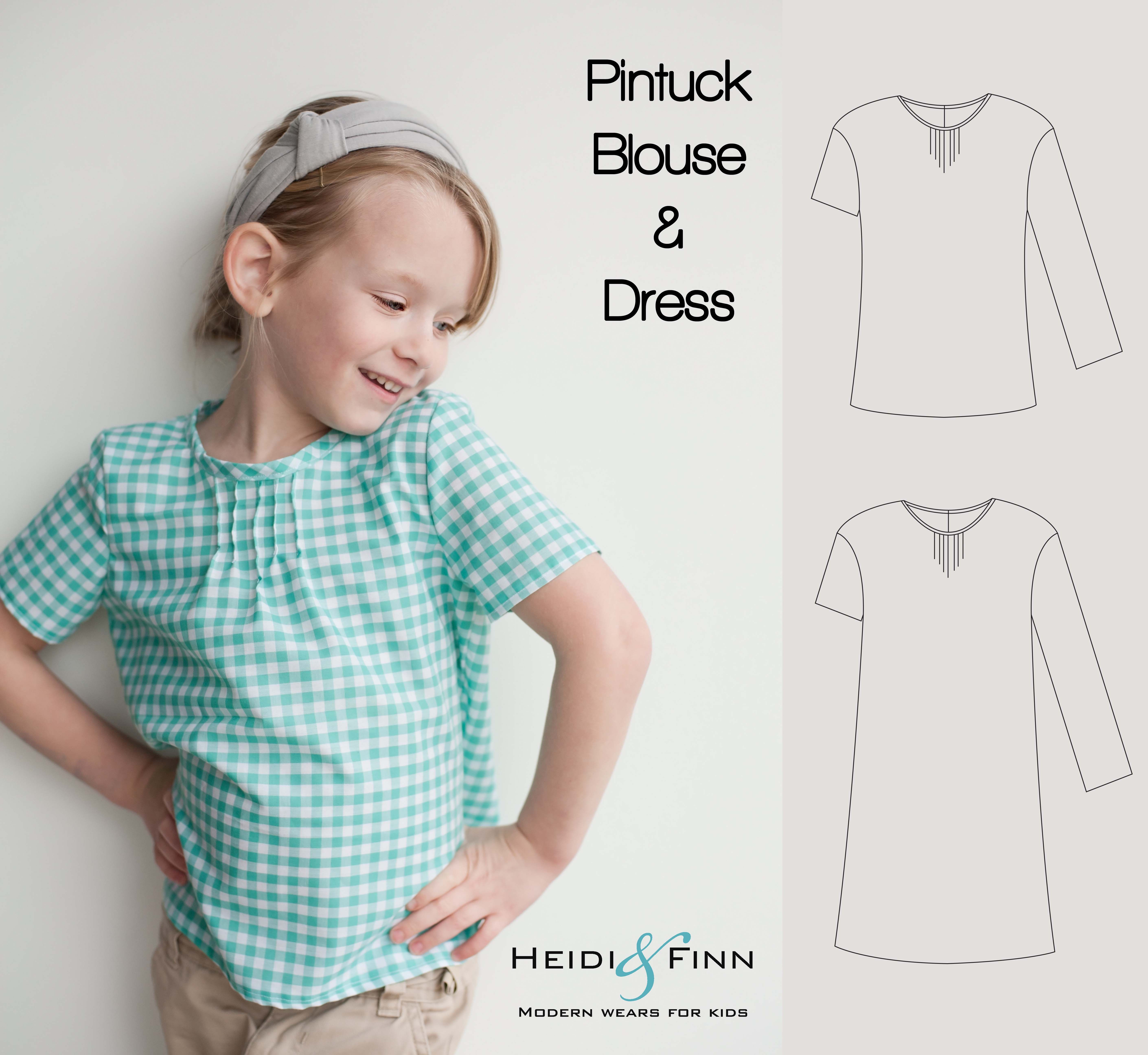 Httpsetsylisting181306848pintuck blouse and dress pintuck blouse and dress pdf pattern and tutorial par heidiandfinn jeuxipadfo Image collections