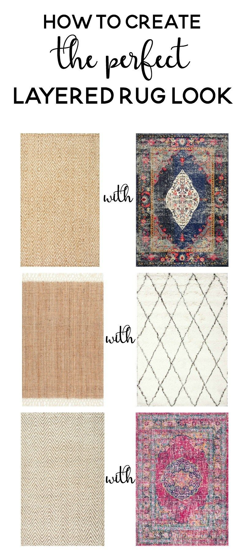How To Create The Perfect Layered Rug Look Tons Of Rugs And Inspiration For Which Rugs To Layer An Layered Rugs Layered Rugs Living Room Round Rug Living Room