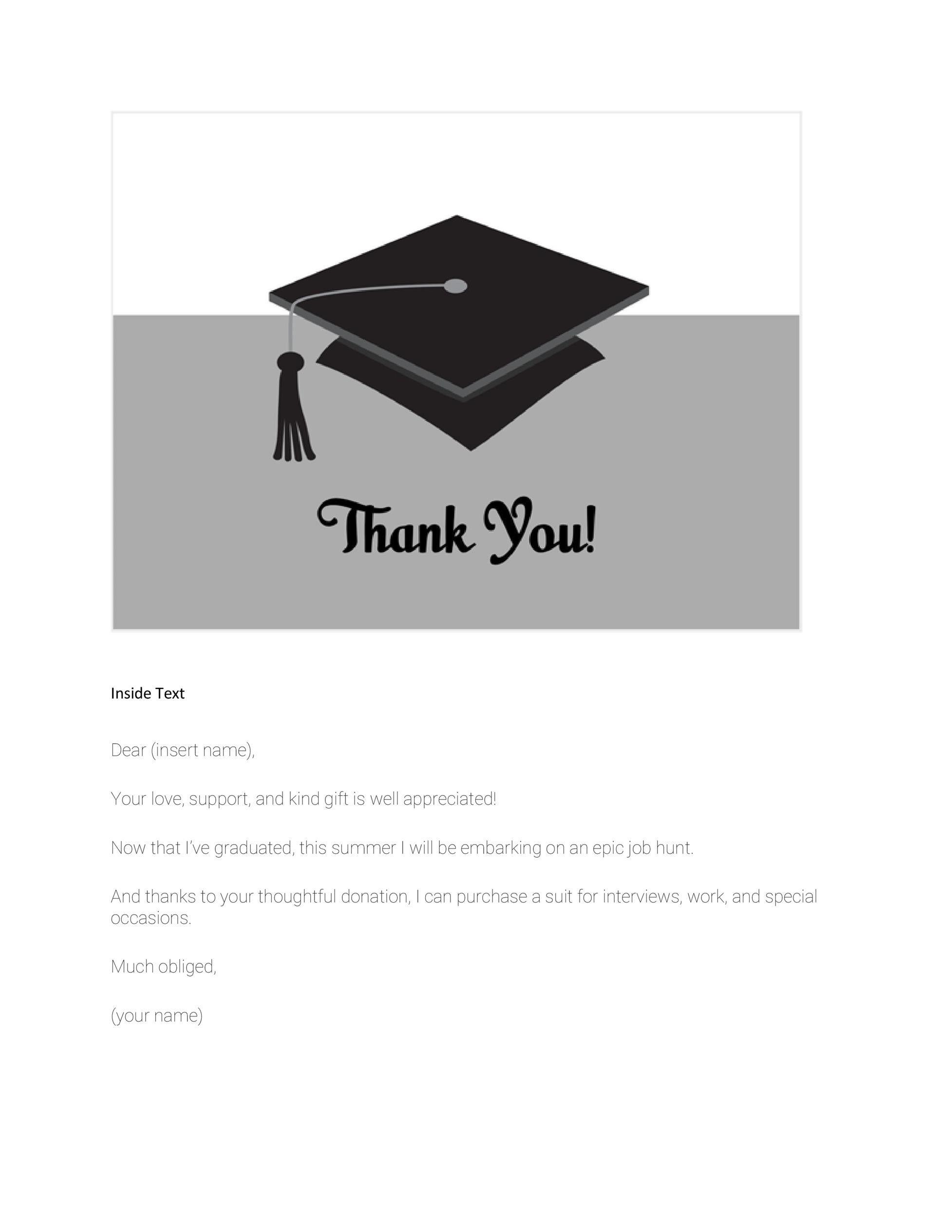 Graduation Name Cards Template Graduation Card Templates Thank You Card Template Note Card Template