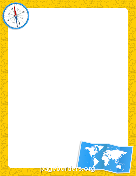 Free Geography Border Templates Including Printable Border Paper And Clip  Art Versions. File Formats Include GIF, JPG, PDF, And PNG.  Free Paper Templates With Borders