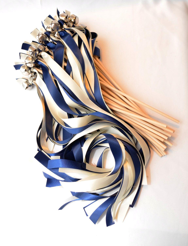 50 Ceremony Send Off Ribbon Wedding Bigger Bell Wands