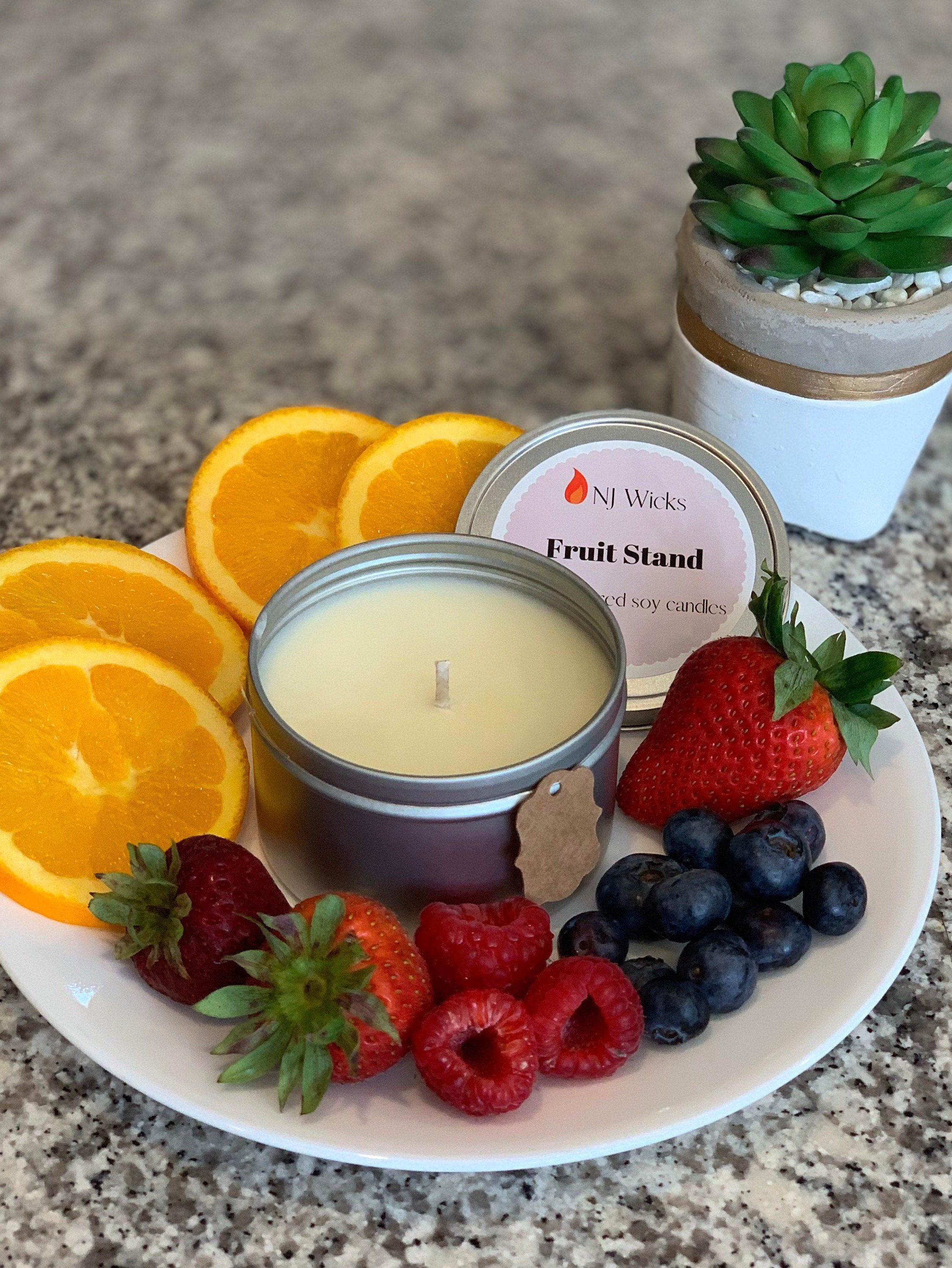 Fruit Scented Candle, Soy Candle, All Natural Candle