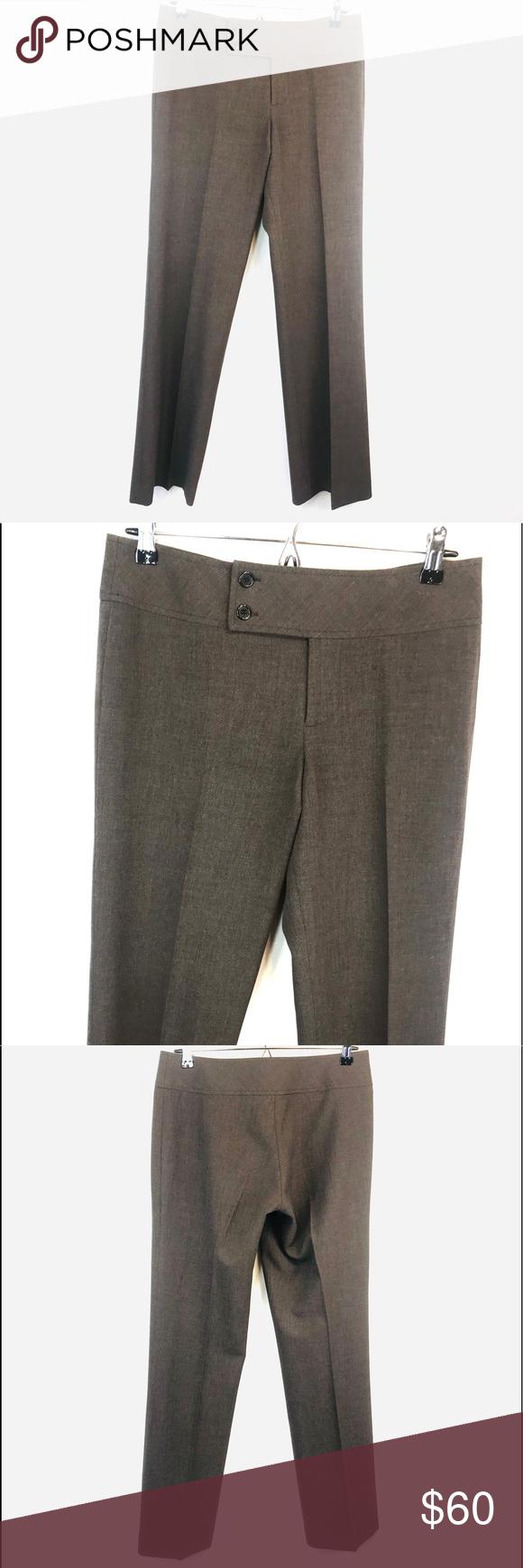 Chaiken Ladies Size 0 Flat Front Wool Dress Pants Light Brown Special Summer Sale Pants