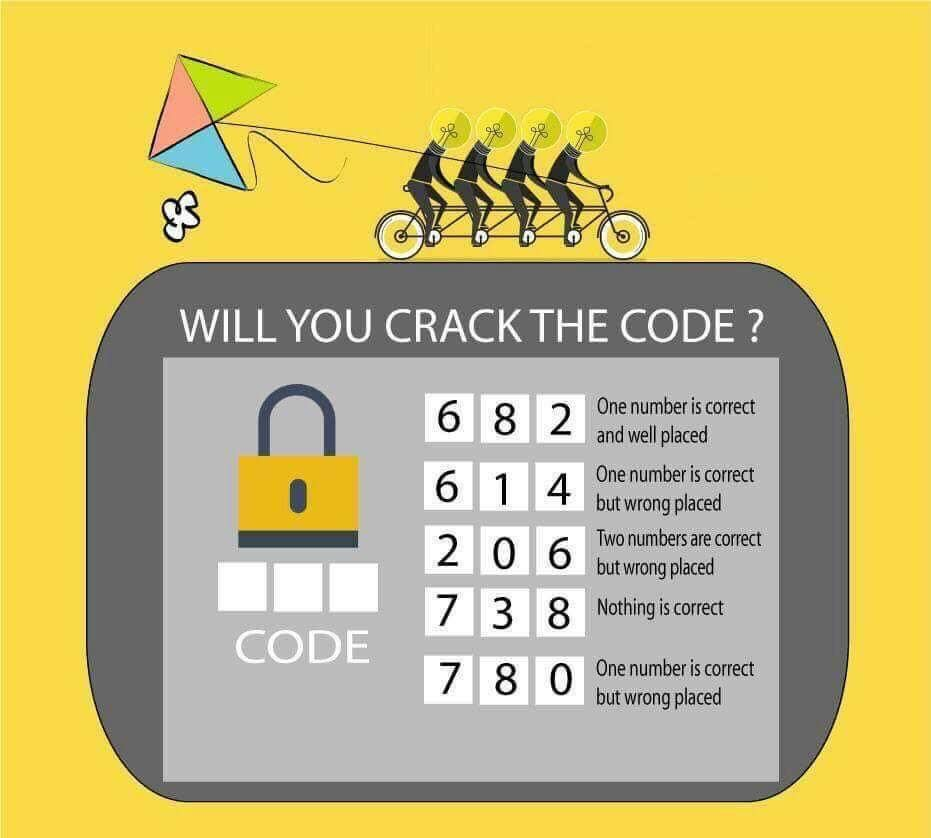 Here is very interesting crack the code puzzle to test your