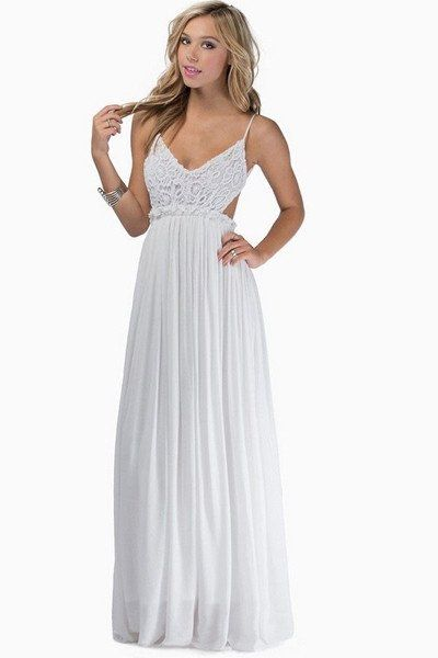 fe210a8675e Something Special Crochet Maxi Dress - White - ShopLuckyDuck - 2 ...
