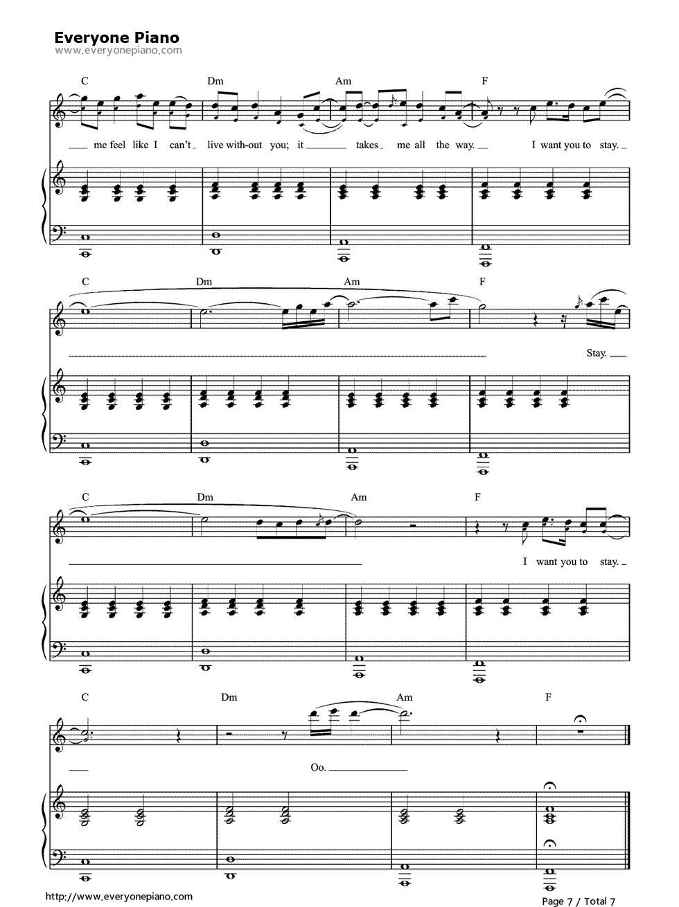 Free stay rihanna and mikky ekko sheet music preview 7 page 7 free stay rihanna and mikky ekko sheet music preview 7 page 7 hexwebz Choice Image