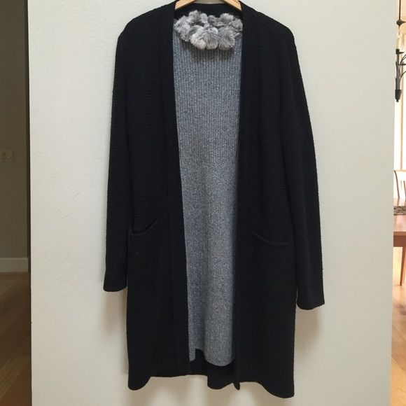 Dana Buchman black Merino long cardigan Elegant wardrobe essential.  This sweater was part of a 2-piece dress but I no longer have the dress.  The sweater is in good condition with a little minor pilling, not really noticeable. Dana Buchman Sweaters Cardigans