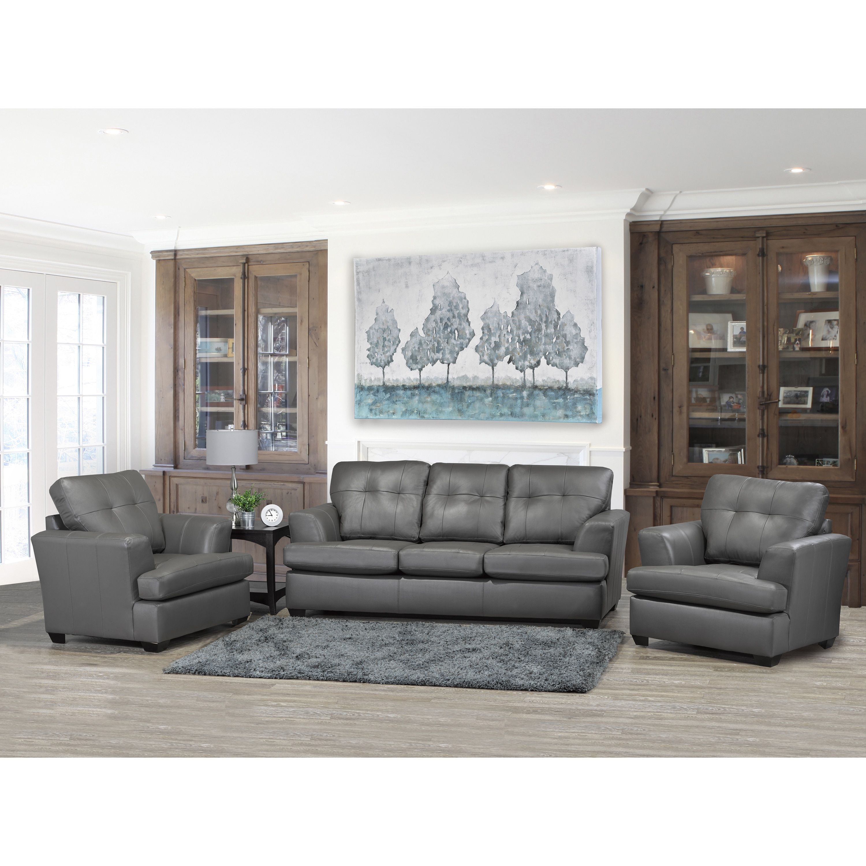 Overstock Com Online Shopping Bedding Furniture Electronics Jewelry Clothing More Top Grain Leather Sofa Leather Living Room Furniture Living Room Leather #set #of #two #chairs #for #living #room