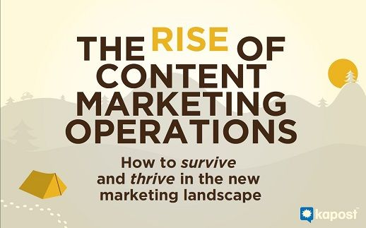The Rise of Content Marketing Operations #free #eBook