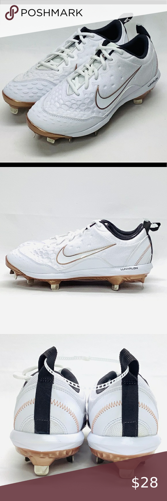 Nike Lunar Hyperdiamond 2 Size 9 Softball Cleats Nike Lunar Hyperdiamond 2 Size 9 Pro Metal Softball Cleats 856492-109 Men's Nike Shoes Sneakers