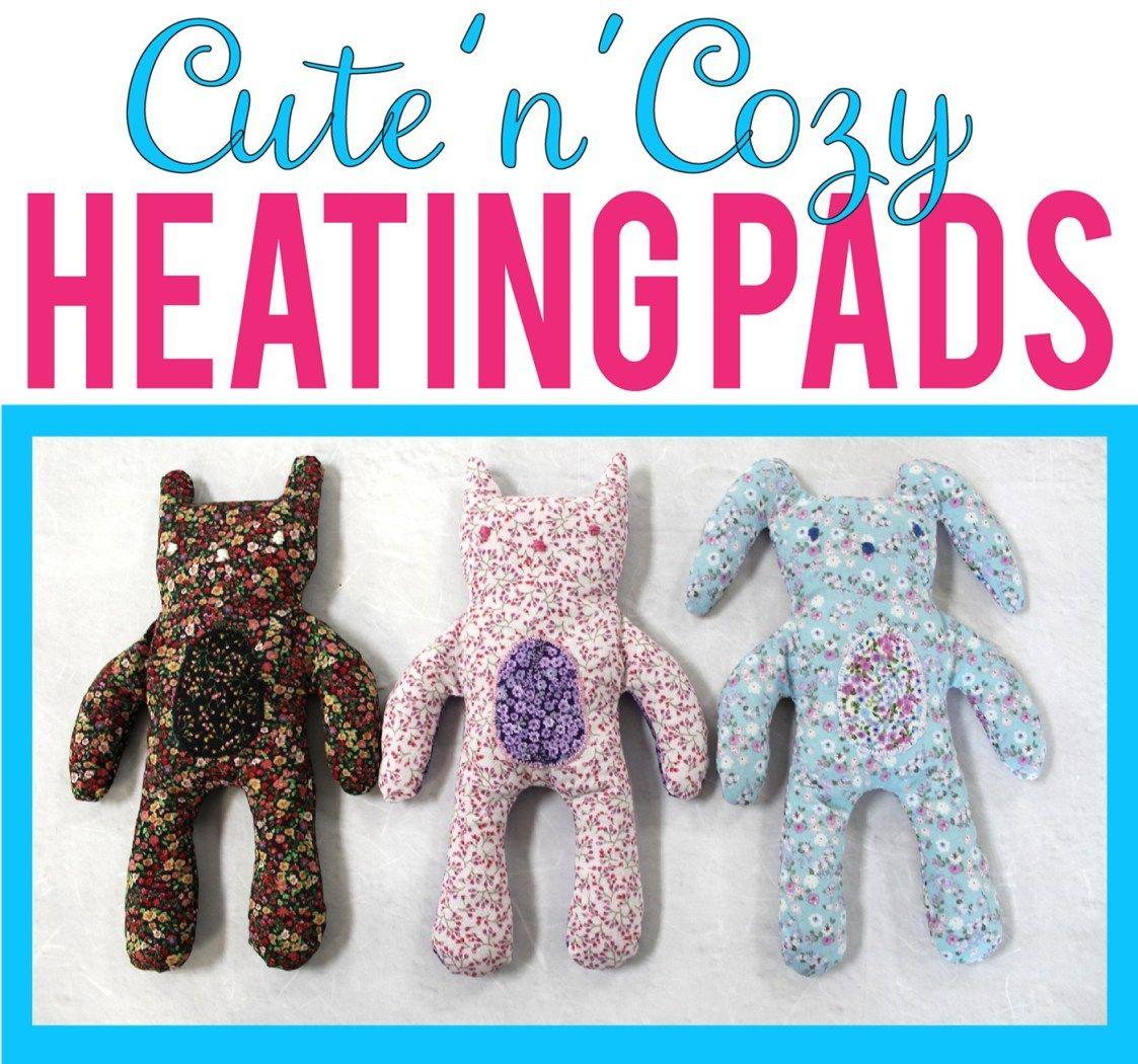 DIY Cute'n'Cozy Heating Pads Diy heating pad, Diy heat